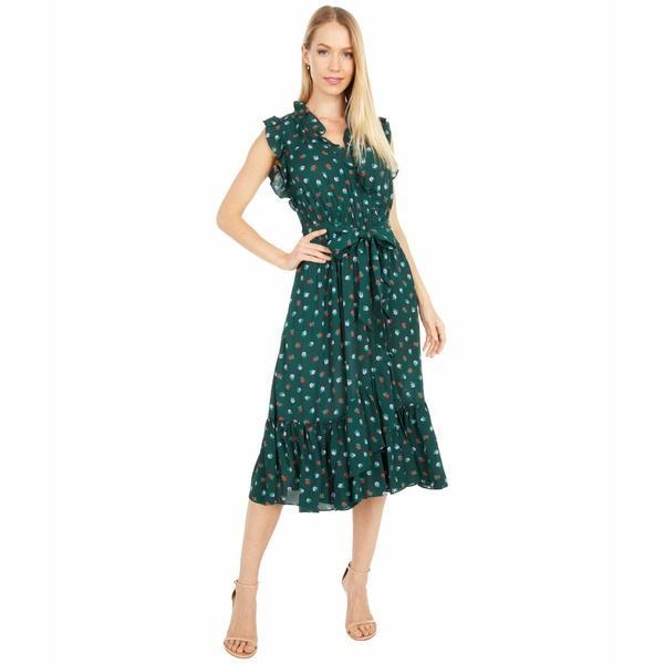 ケイト スペード ワンピース トップス レディース Blackberry Ruffle Wrap Dress Pine Grove