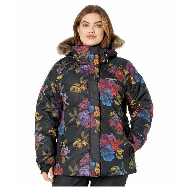 お待たせ! コロンビア コート アウター レディース Plus Size Lay D Down II Jacket Black Floral Print, ホビーSHOP C62 0fbc09ac