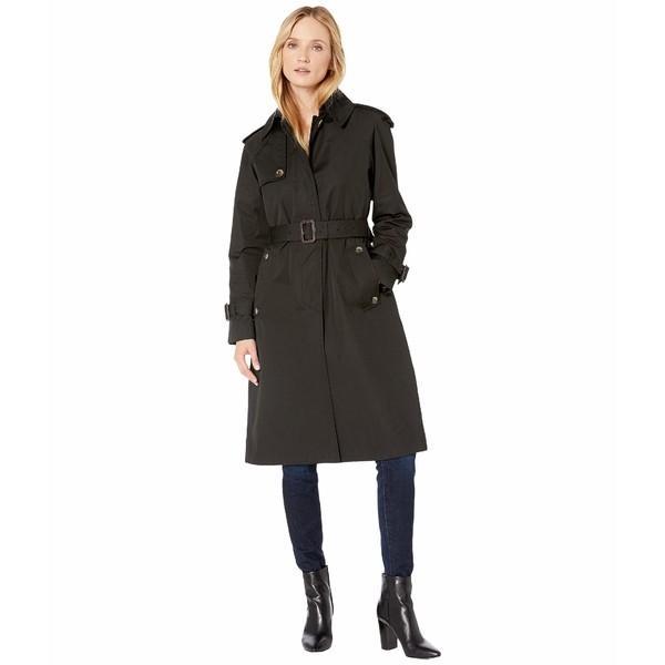 新発売 ロンドンフォグ コート アウター レディース Megan Heritage Trench Coat with Removable Lining Black, こころが香る Yucca 65e14efe