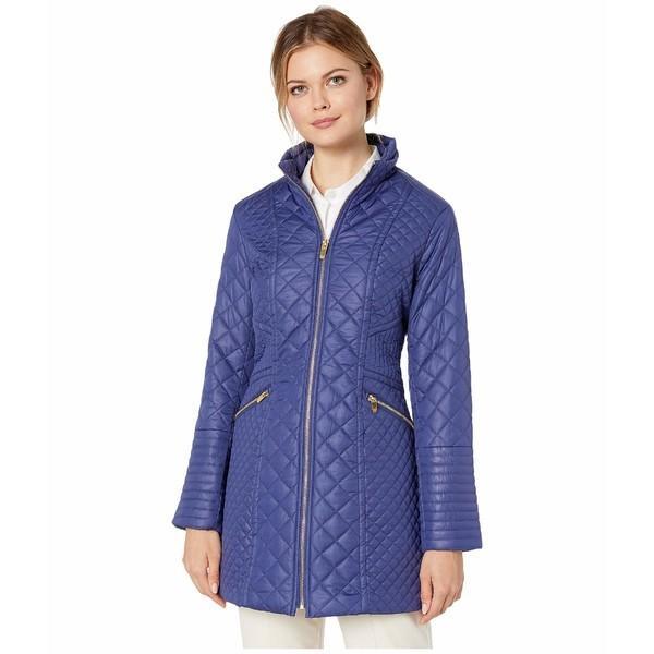 【メーカー直送】 ヴィアスピガ コート アウター レディース Stand Collar Stitch Quilt Postiano Blue, バイク メンテ館 5fedb62e