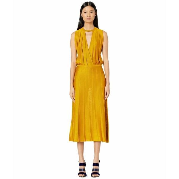 クシュニーエオクス ワンピース トップス レディース Sleeveless Midi Length Knit Dress w/ Blouson Top Antique Gold