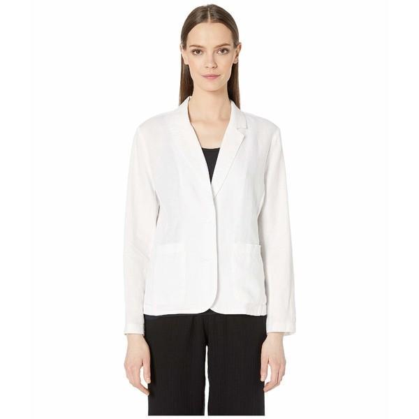 世界有名な エイリーンフィッシャー コート アウター レディース Organic Linen Shaped Blazer White, セッツシ 6973ec3c