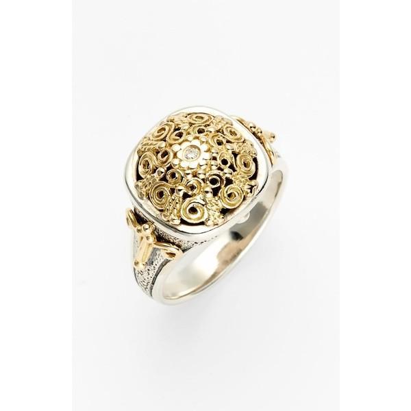 超話題新作 コンスタンティーノ 'Classics' リング アクセサリー レディース Konstantino 'Classics' Two-Tone Diamond Diamond Silver/ Ring Silver/ Gold, 田中貴金属 レガロ:3a115523 --- airmodconsu.dominiotemporario.com