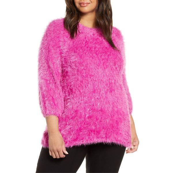 上品なスタイル ニックプラスゾーイ ニット&セーター アウター レディース NIC+ZOE Cozy Up To NIC+ZOE Eyelash ニット&セーター レディース Sweater (Plus Size) Pure Pink, ヌカタグン:a500f1b9 --- theroofdoctorisin.com