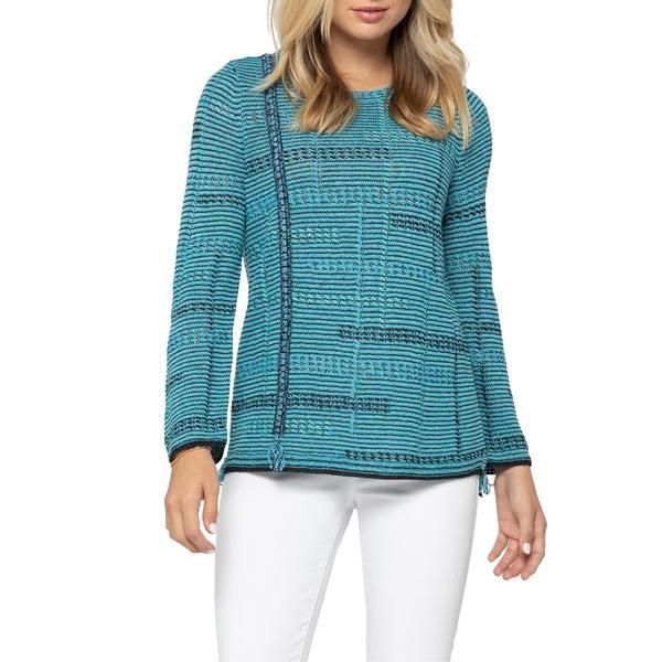 【美品】 ニックプラスゾーイ ニット&セーター アウター (Regular レディース Turquoise NIC+ZOE Line & of Work Sweater (Regular & Petite) Turquoise, 【超特価sale開催】:6e971397 --- theroofdoctorisin.com