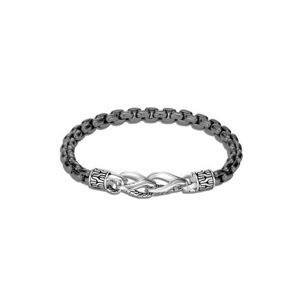 【ラッピング無料】 ジョン・ハーディー ブレスレット・バングル・アンクレット アクセサリー メンズ John Hardy Men's Asli Classic Chain Link Bracelet Silver/ Black Rhodium, MARK DOYLE 804d944b