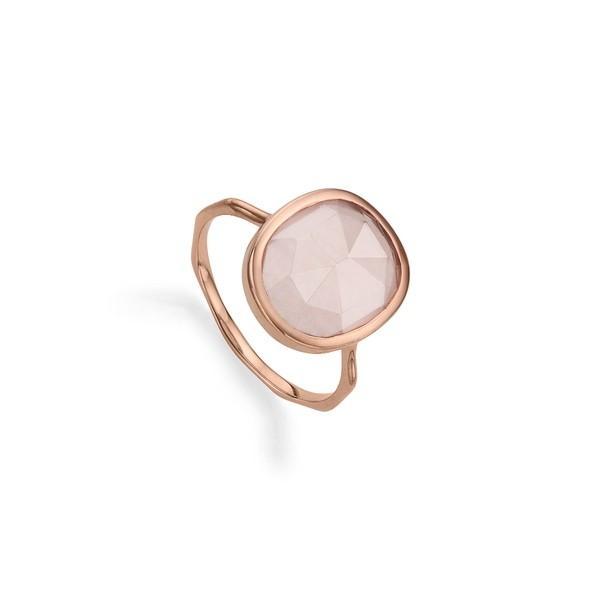 買得 モニカヴィナダー リング アクセサリー レディース Monica Vinader Siren Medium Semiprecious Stone Stacking Ring Rose Gold/ Rose Quartz, 日田郡 3d394a22