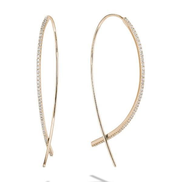 【予約】 ラナ ピアス&イヤリング アクセサリー レディース Lana Jewelry Small Upside Down Flawless Diamond Hoop Earrings Yellow Gold/ Diamond, 東海つり具 949ba409
