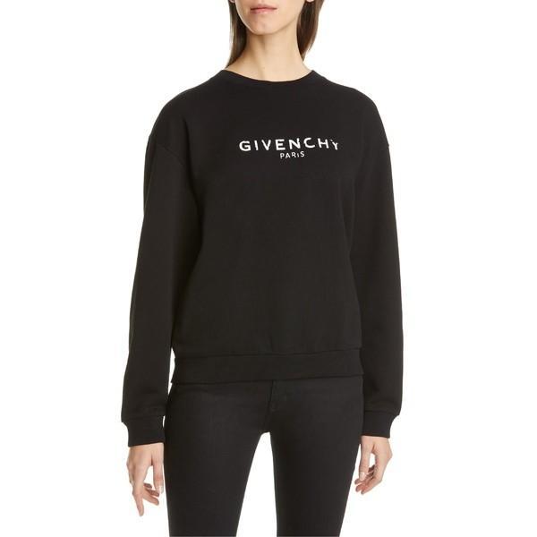 即日発送 ジバンシー ニット&セーター Logo アウター Cotton レディース Givenchy ニット&セーター Logo Cotton Sweatshirt Black, ルリカ:3a4a1865 --- lighthousesounds.com