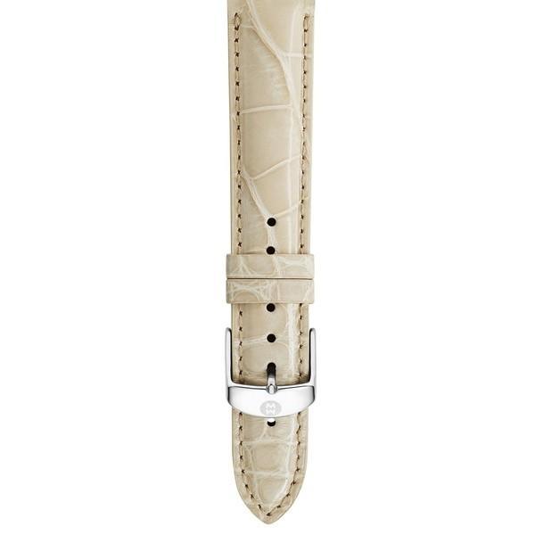 2019春大特価セール! ミッシェル 腕時計 アクセサリー レディース MICHELE 16mm Genuine Alligator Watch Strap Bone, JI-RO インポートジュエリー 5ea11b85
