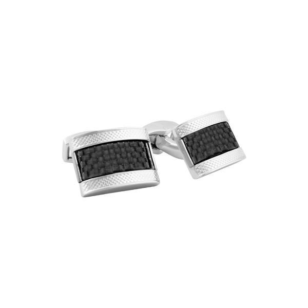2019人気新作 タテオシアン カフスボタン アクセサリー メンズ Tateossian Carbon Fiber Cuff Links Rhodium/ Black, 南蒲原郡 59f51de0