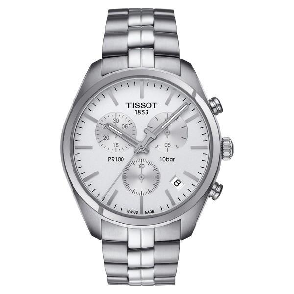 【税込?送料無料】 ティソット 腕時計 アクセサリー レディース Tissot PR100 Chronograph Bracelet Watch, 41mm Silver, 益子町 84616668