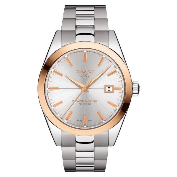 全国宅配無料 ティソット 腕時計 アクセサリー レディース Tissot Gentleman Powermatic Bracelet Watch, 40mm Grey, クッチャンチョウ 68ff366f
