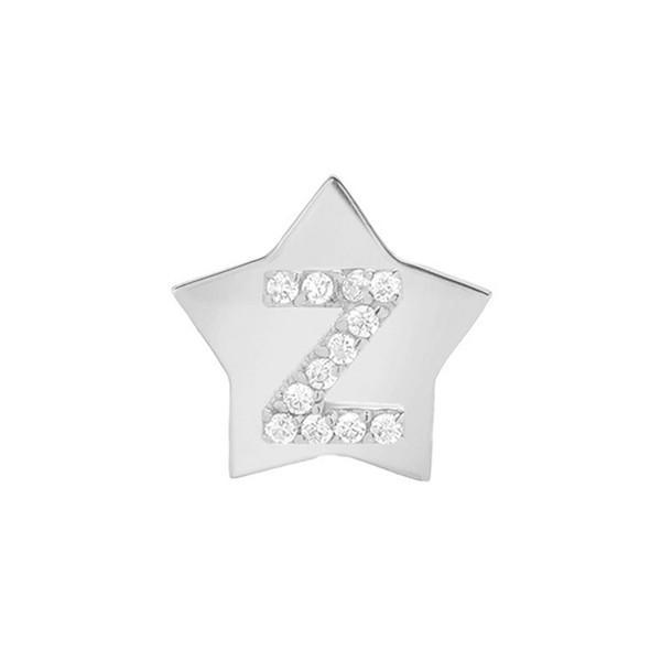 本物 ミニミニジュエルズ ピアス Gold-Z White&イヤリング アクセサリー レディース Mini Mini Jewels Star-Framed Star-Framed Diamond Initial Earring White Gold-Z, シャツ専門店 ギャルソンウェーブ:68bb4839 --- photoboon-com.access.secure-ssl-servers.biz