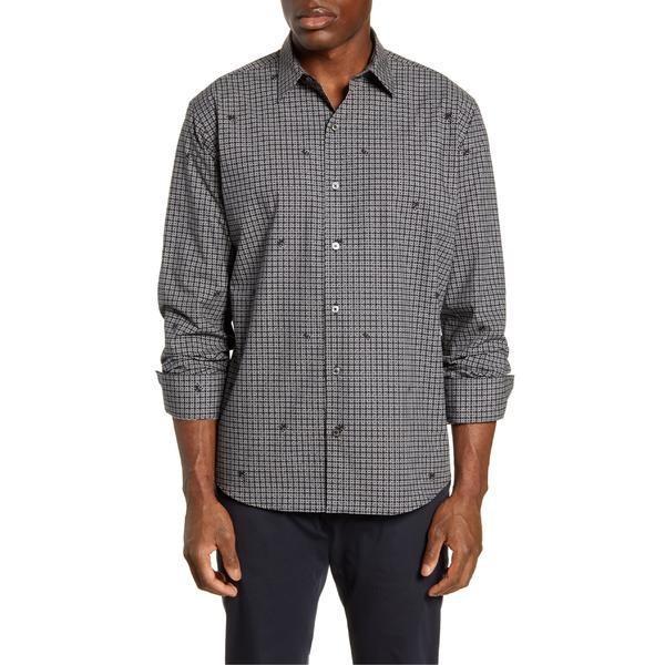 【特別セール品】 ブガッチ シャツ トップス メンズ Shirt Bugatchi メンズ Classic Fit Button-Up Fit Shirt Caviar, 大間町:26bf03b0 --- sonpurmela.online