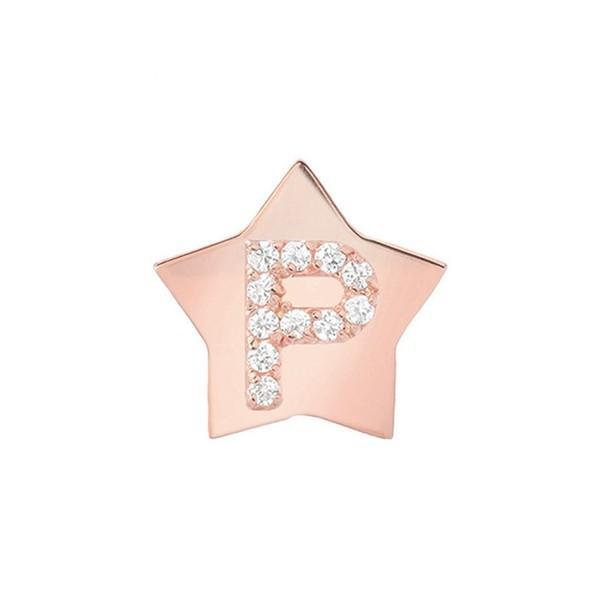 【特別セール品】 ミニミニジュエルズ ピアス&イヤリング アクセサリー レディース Mini Mini Jewels Star-Framed Diamond Initial Earring Rose Gold-P, いたの家具 e7d87309