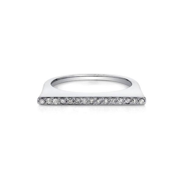 最安値 シェリルロエ リング アクセサリー レディース Sheryl Lowe Pav Diamond Bar Ring Sterling Silver, 女川町 252b8c53