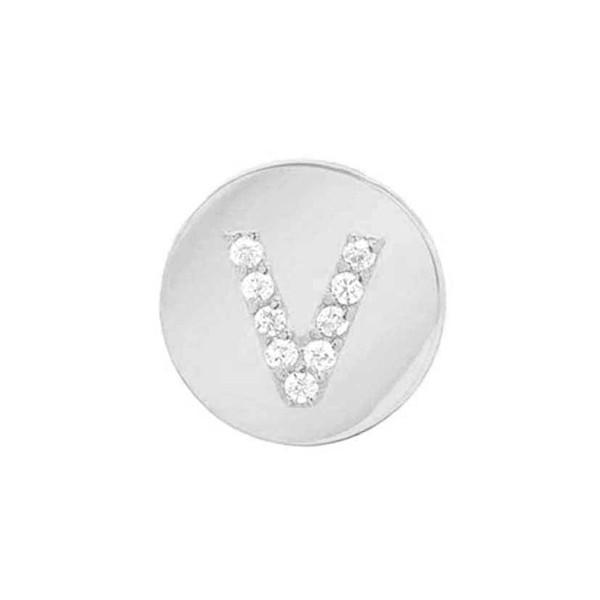 【オープニング 大放出セール】 ミニミニジュエルズ ピアス&イヤリング アクセサリー White レディース Mini Gold-V Mini Earring Jewels Framed Diamond Initial Earring White Gold-V, 騎西町:8dd2b1fd --- airmodconsu.dominiotemporario.com