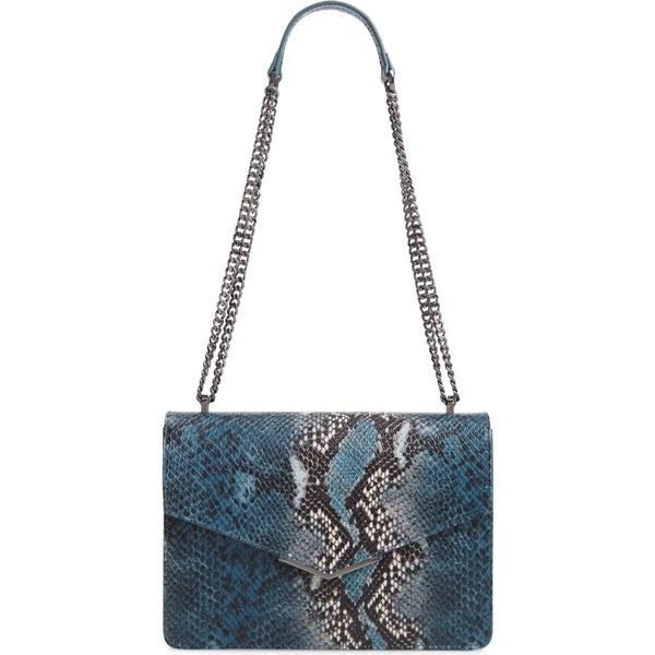 【全商品オープニング価格 特別価格】 テッドベーカー ハンドバッグ Embossed バッグ Mid-Blue レディース Ted Baker Bag London Garance Snake Embossed Leather Shoulder Bag Mid-Blue, プレミアムジャパン:34371496 --- lighthousesounds.com