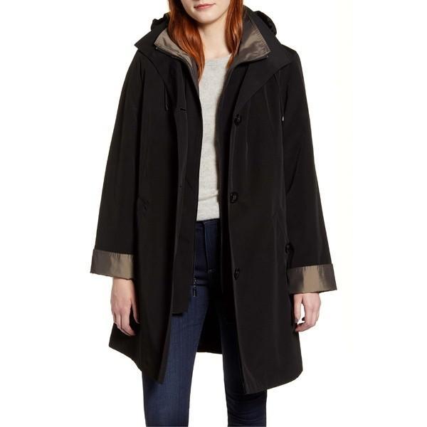 人気沸騰ブラドン ギャレリ− コート アウター レディース Gallery Raincoat with Detachable Liner and Hood Black, 三和村 a207e8d5