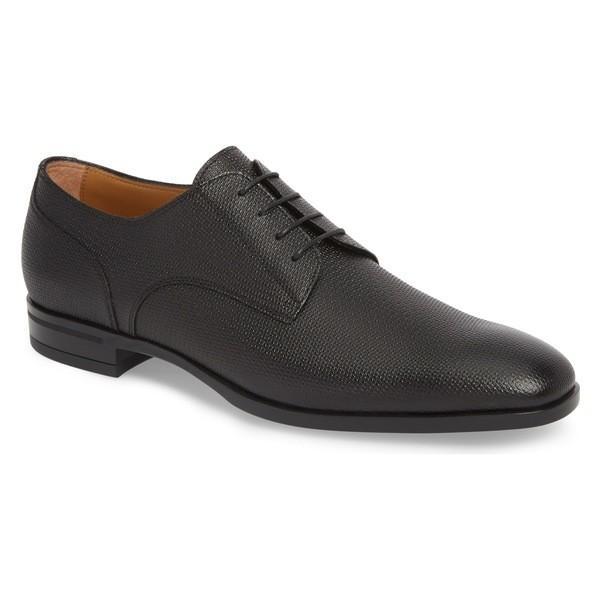 適切な価格 ボス Embossed ドレスシューズ Derby シューズ メンズ BOSS メンズ Hugo Boss Portland Embossed Plain Toe Derby (Men) Black Leather, 久宝寺屋:dc99752d --- lighthousesounds.com