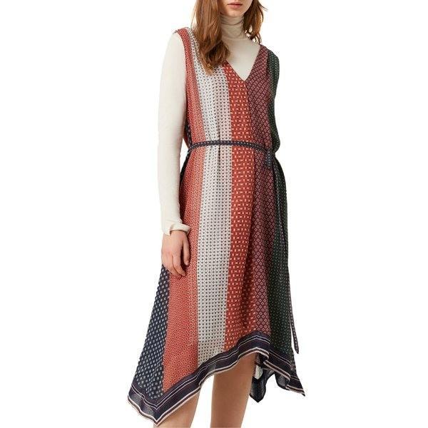 フレンチコネクション ワンピース トップス レディース French Connection Caprice Sleeveless Midi Dress Cinnamon/ Laurel Multi