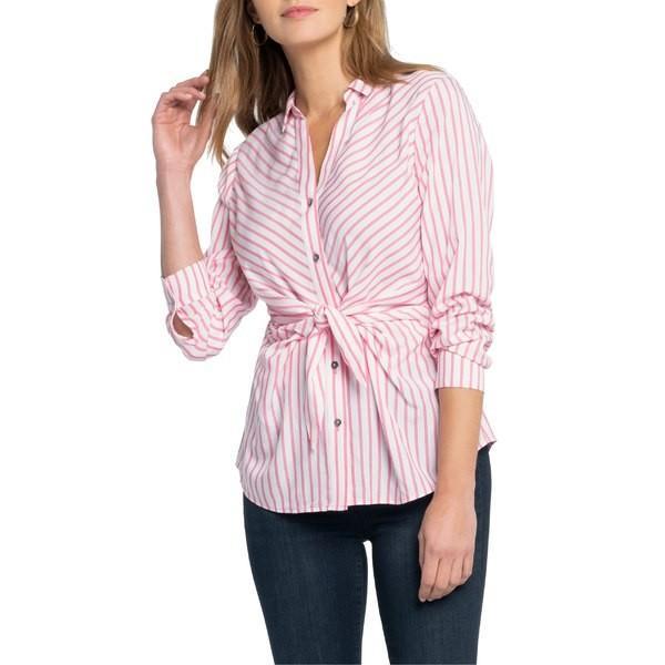 【セール】 ニックプラスゾーイ カットソー トップス レディース NIC+ZOE Sail Tie Stripe Blouse Pink Multi, イタリア製高級本革直輸入グッビオ 659fd166