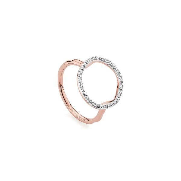 憧れの モニカヴィナダー リング アクセサリー レディース Monica Vinader Vinader Riva Rose Circle Diamond Diamond Ring Rose Gold/ Diamond, Cher/シェル:4110a826 --- airmodconsu.dominiotemporario.com