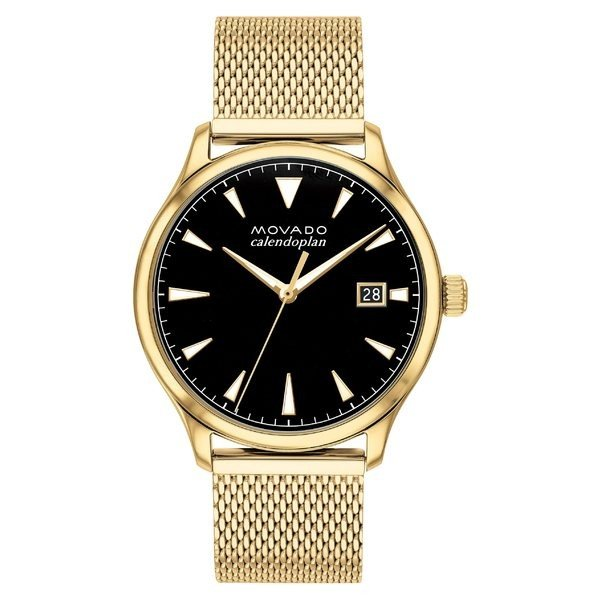 リアル モバド 腕時計 アクセサリー レディース Movado Heritage Calendoplan 腕時計 Black/ Bracelet Watch, Heritage 40mm Gold/ Black/ Gold, 中古DVDもんきーそふと:d77e7513 --- airmodconsu.dominiotemporario.com