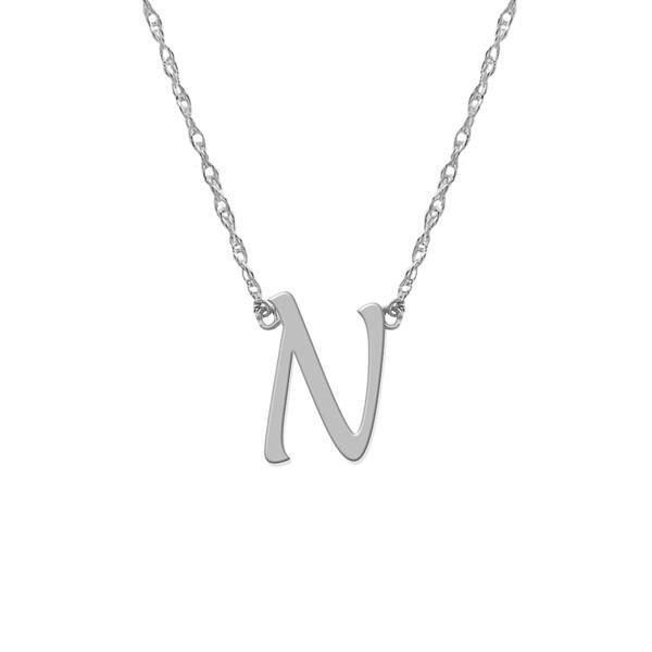 激安通販 ジェインバシュデザインズ ネックレス・チョーカー・ペンダントトップ アクセサリー レディース Jane Basch Designs Initial Pendant Necklace Silver- N, ブランド古着販売ピックアップ b0fc5c50