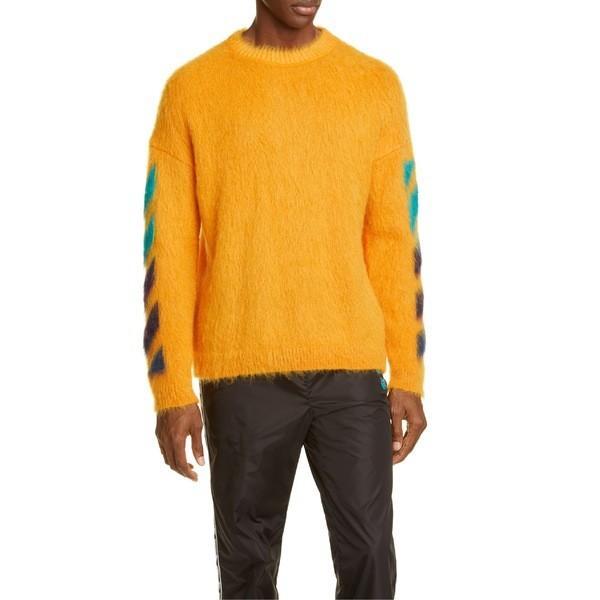 激安単価で オフホワイト ニット Off-White、セーター アウター メンズ Off-White Multicolor Brushed Mohair Mohair Blend Sweater Orange Multicolor, 自然エネルギー安川商事:d0aecbd0 --- sonpurmela.online