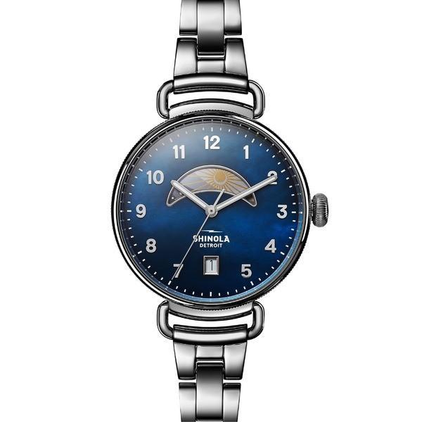 春夏新作 シャイノーラ 腕時計 アクセサリー レディース Canfield Shinola The Canfield Silver Bracelet Watch, The 38mm Silver/ Midnight Blue/ Silver, 地図柄とメンズバッグの店MODE DIO:cf16a169 --- airmodconsu.dominiotemporario.com
