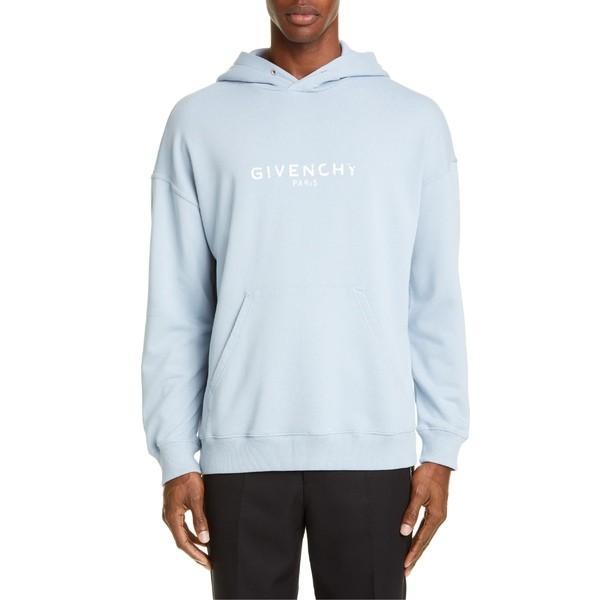 【爆売り!】 ジバンシー メンズ パーカー・スウェットシャツ アウター ジバンシー メンズ Givenchy Pale Logo Hoodie Pale Blue, 東葛飾郡:0c2a4bbb --- grafis.com.tr