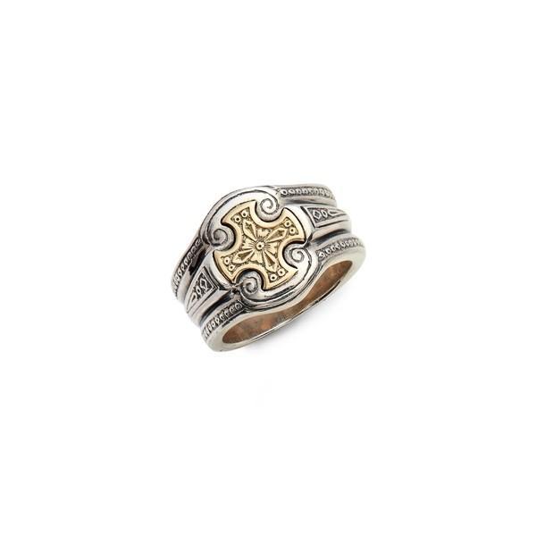 【税込】 コンスタンティーノ リング アクセサリー メンズ Konstantino Stavros Cross Signet Ring Silver/ Gold, eieistyle 68fc7804