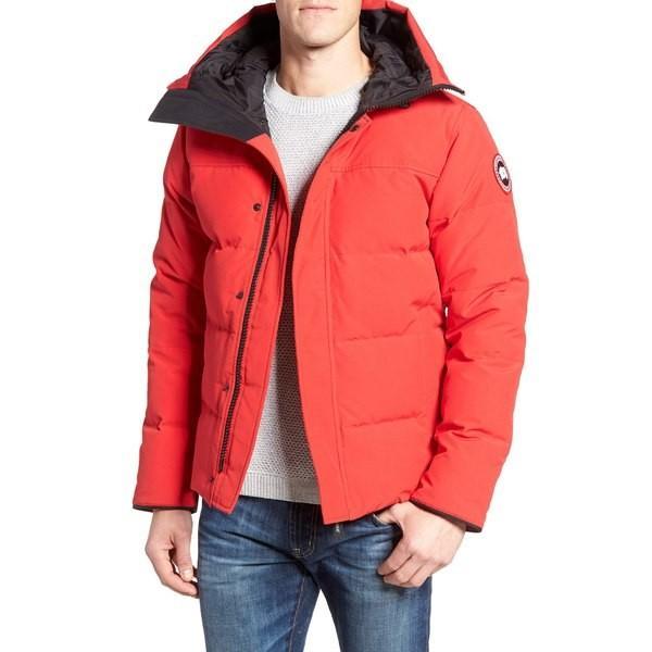 定番 カナダグース パーカー Slim・スウェットシャツ カナダグース アウター メンズ Canada Goose 'MacMillan' Parka Slim Fit Hooded Parka Red, 大成町:dbb09a6c --- grafis.com.tr