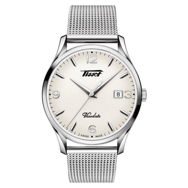 激安/新作 ティソット 腕時計 アクセサリー レディース Tissot Heritage Visodate Mesh Strap Watch, 40mm Silver/ White/ Silver, ジーンズ ジーパ ウェブサイト 439a8a84