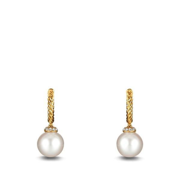 最新最全の デイビット・ユーマン Pearls ピアス&イヤリング レディース David Pearl David Yurman 'Solari' Hoop Earring with Diamonds and Pearls in 18K Gold Pearl, 弘前市:439a2a40 --- airmodconsu.dominiotemporario.com