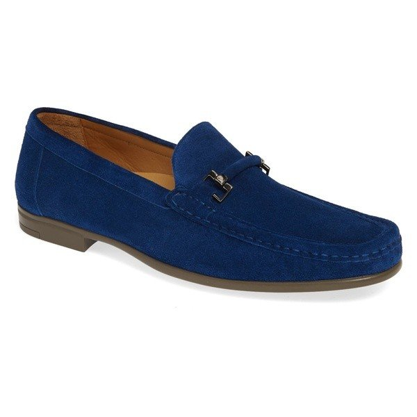 古典 メズラン スリッポン Landa・ローファー シューズ メンズ Mezlan Blue Landa Bit Bit Loafer (Men) Blue Suede, 【正規品直輸入】:6f906bad --- lighthousesounds.com