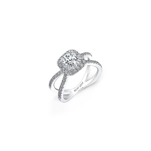超爆安 ボニー Setting レヴィ リング アクセサリー レディース Bony Levy Diamond Pav Diamond Ring Split Shank Round Engagement Ring Setting (Nordstrom Exclusive) White Gold, カー用品のホットロード長久手店:74f28225 --- airmodconsu.dominiotemporario.com