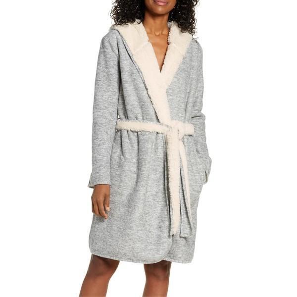 【メーカー直売】 アグ コート アウター レディース UGG Portola Reversible Hooded Robe Grey Heather, ビタミンバスケット a0379b2f