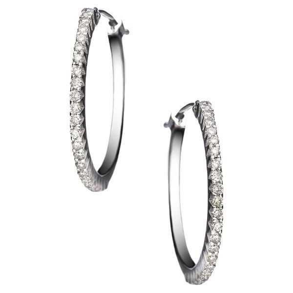 大特価 セチクチュール Diamond ピアス&イヤリング アクセサリー Earrings レディース Sethi Couture Micro Prong Micro Diamond Hoop Earrings White Gold/ Diamond, ティアクラッセ:d772c654 --- airmodconsu.dominiotemporario.com
