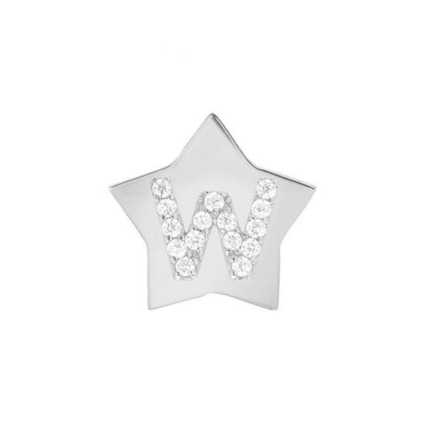 【新品本物】 ミニミニジュエルズ ピアス&イヤリング アクセサリー レディース Mini Mini Jewels Star-Framed Diamond Initial Earring White Gold-W, ラトックプレミア f0374fba