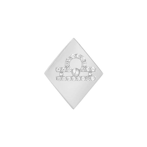 注目のブランド ミニミニジュエルズ ピアス&イヤリング アクセサリー レディース White アクセサリー Mini Mini Earring Jewels Frame Diamond Zodiac Sign Earring White Gold-Libra, PARTS:6819e695 --- airmodconsu.dominiotemporario.com