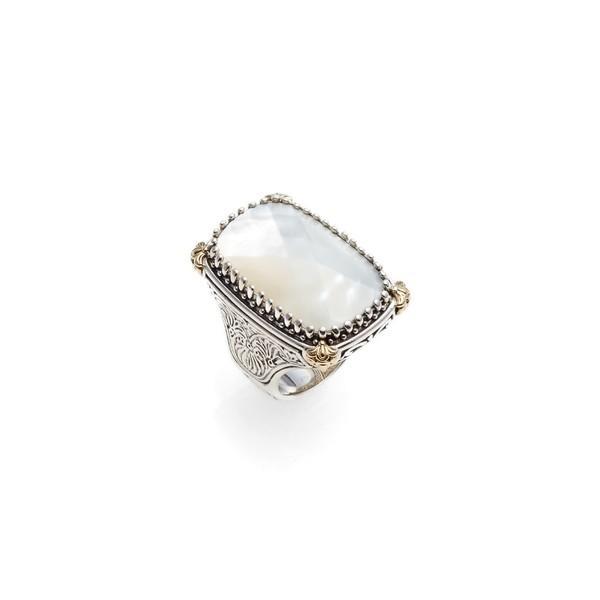 特価 コンスタンティーノ リング アクセサリー レディース Konstantino Selene Mother-of-Pearl Ring Silver/ Gold/ Mother Of Pearl, 陶器と雑貨 KOSETO plus 555955d9