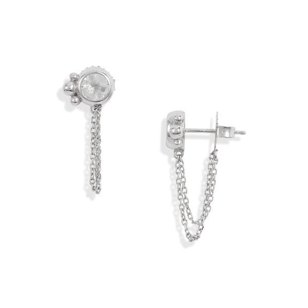 激安/新作 アンジー ピアス&イヤリング アクセサリー レディース Anzie Bonheur Bubbling Brook Chain Detail Stud Earrings White Topaz, タルミク 483f8455