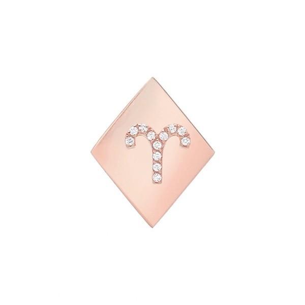 値引きする ミニミニジュエルズ ピアス&イヤリング アクセサリー レディース Mini レディース Mini Jewels Gold-Aries Frame アクセサリー Diamond Zodiac Sign Earring Rose Gold-Aries, 丸亀市:0a0f5e8a --- airmodconsu.dominiotemporario.com