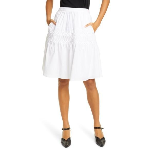 2018新入荷 マーレット White スカート ボトムス レディース Merlette Castell Smocked レディース Tiered ボトムス Cotton Skirt White, BB-STORE:d724c8f6 --- sonpurmela.online