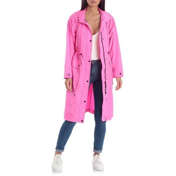売り切れ必至! アベックレフィレ コート アウター レディース Avec Les Filles Water Resistant Raincoat with Removable Hood Pink, 定番 22a7ae25