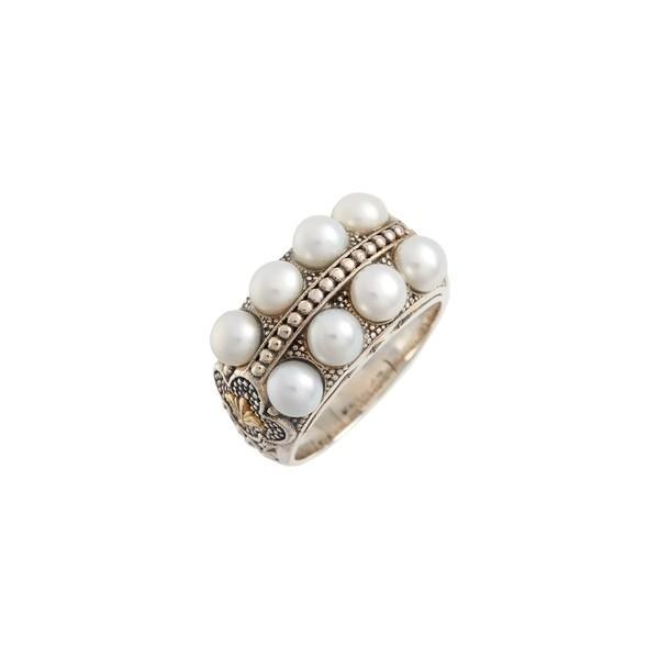 最新作 コンスタンティーノ リング Silver/ アクセサリー レディース Ring Konstantino Thalia Pearl Row Ring リング Silver/ Pearl, 和らぎ工房:16f55c48 --- airmodconsu.dominiotemporario.com