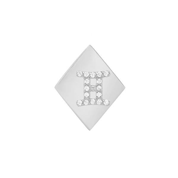 上等な ミニミニジュエルズ ピアス&イヤリング アクセサリー レディース Mini Mini Jewels Frame Diamond Zodiac Sign Earring White Gold-Gemini, スマホ 手帳型 ケースShop ENYU 94145f0b